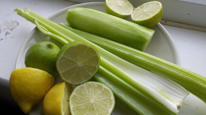Apio perejil y limon para bajar de peso